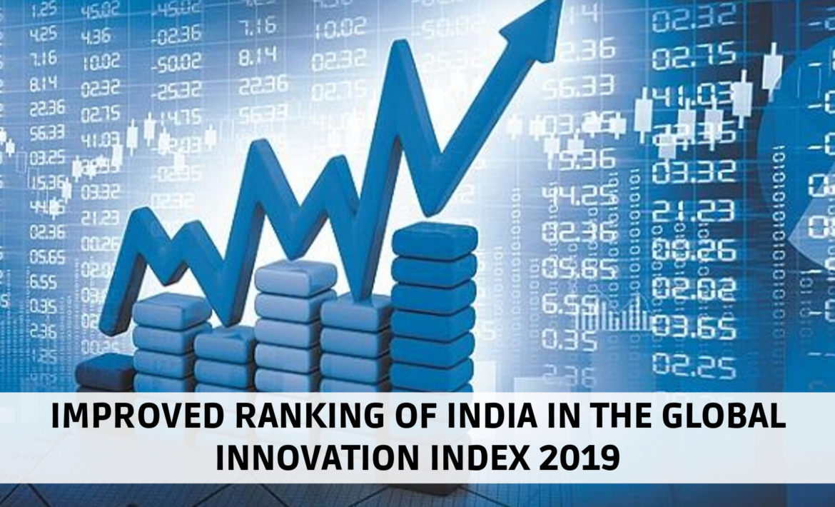 IMPROVED RANKING OF INDIA IN THE GLOBAL INNOVATION INDEX 2019